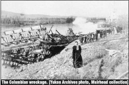 The Columbian wreckage
